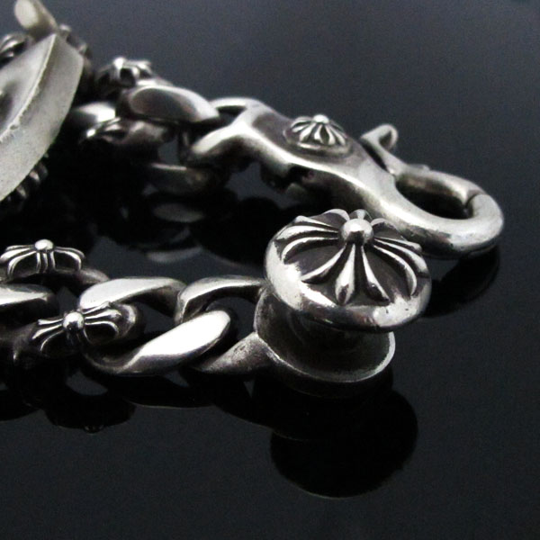 Chrome Hearts(크롬하츠) 925(실버) 플로랄 팬시 클립 체인 팔찌 [대구동성로점] 이미지5 - 고이비토 중고명품