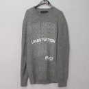 Louis Vuitton(루이비통) 1A46RK 그레이 컬러 LV 리스트 프린트 로고 크루넥 남성용 니트 [대구반월당본점]