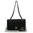 Chanel(샤넬) A01112Y01490 금장 COCO 로고 블랙 컬러 램스킨 클래식 M 사이즈 체인 숄더백 [대구동성로점]