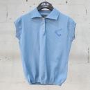 Vivienne Westwood (비비안 웨스트우드) 스카이 블루 컬러 카라 장식 여성용 반팔 티셔츠[동대문점]
