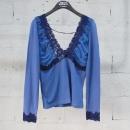 D&G(돌체&가바나) 퍼플 네이비 컬러 레이스 디테일 여성용 티셔츠 [동대문점]