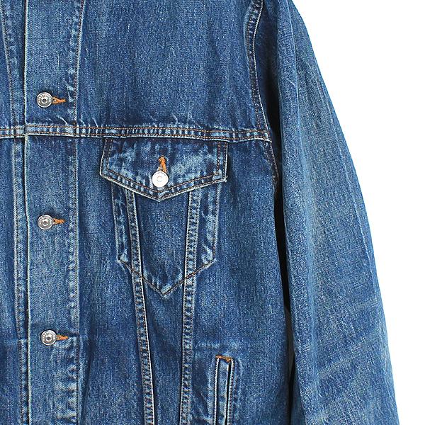 Balenciaga(발렌시아가) 509345 100% 면 백 패치 디테일 남성용 오버핏 데님 자켓 [강남본점] 이미지2 - 고이비토 중고명품