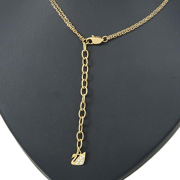 Swarovski(스와로브스키) 금장 타원 큐빅 장식 목걸이 [잠실점] 이미지3 - 고이비토 중고명품