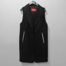 KUHO(구호) 블랙 컬러 모 혼방 여성용 슬리브리스 코트 [대구반월당본점]