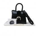 DELVAUX(델보) Brillant (브리앙) BOX CAIF Noir 컬러 아이코닉 버클 미니 사이즈 탑핸들 토트백 + 숄더스트랩 [인천점]