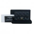 Chanel(샤넬) A80799 블랙 캐비어 클래식 COCO 금장 로고 카드 & 명함지갑 [부산센텀본점]