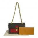Louis Vuitton(루이비통) M41731 모노그램 캔버스 VICTOIRE(빅투아) 골드 메탈 더블 체인 플랩 숄더백 [동대문점]