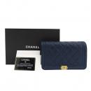 Chanel(샤넬) A81969Y83621 네이비 컬러 보이 샤넬 WOC 월릿 온 금장 체인 크로스백 [잠실점]