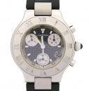 Cartier(까르띠에) W10125U2 MUST 21세기 크로노스카프 러버 밴드 폴딩 버클 남성용 시계 [강남본점]