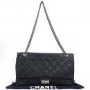 Chanel(샤넬) A37590 빈티지 블랙컬러 2.55 L사이즈 메탈 로고 체인 플랩 숄더백 [강남본점]