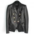 Balmain(발망) 블랙 램스킨 금장 버튼 장식 여성용 자켓 [강남본점]