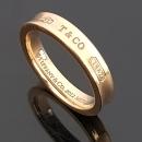 Tiffany(티파니) 핑크 골드 메탈 루베이도™ 네로우 1837™ 밴드 반지-15호 [동대문점]