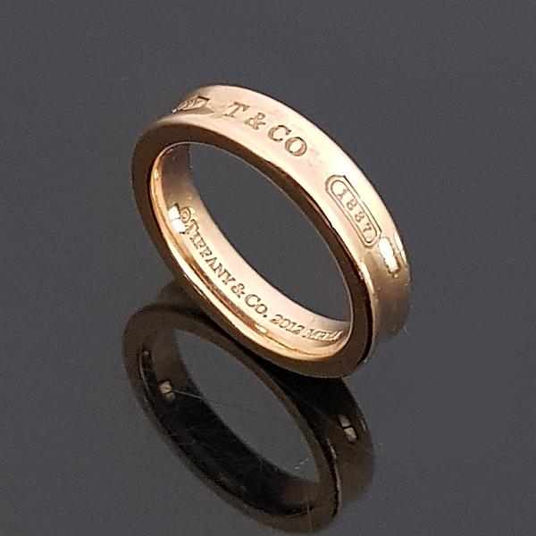 Tiffany(티파니) 핑크 골드 메탈 루베이도™ 네로우 1837™ 밴드 반지-8호 [대전본점]