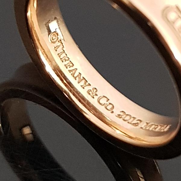 Tiffany(티파니) 핑크 골드 메탈 루베이도™ 네로우 1837™ 밴드 반지-8호 [대전본점] 이미지3 - 고이비토 중고명품