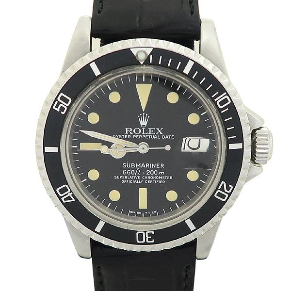 Rolex(로렉스) 빈티지 프리미엄 1680 SUBMARINER DATE 서브마리너 데이트 블랙 다이얼 가죽밴드 오토매틱 시계 [강남본점] 이미지2 - 고이비토 중고명품