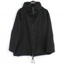 Celine(셀린느) 블랙컬러 커튼 폴리에스터 혼방 후드 여성용 지퍼 자켓 [강남본점]