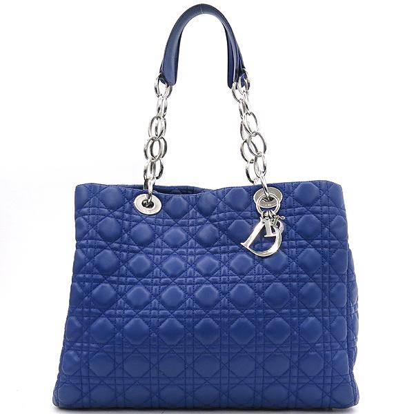 Dior(크리스챤디올) CAL449561 블루컬러 까나쥬 디올 참 장식 은장체인 숄더백 [강남본점] 이미지2 - 고이비토 중고명품