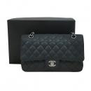 Chanel(샤넬) A0112Y01588 캐비어스킨 블랙 클래식 M사이즈 은장로고 체인 숄더백 [대구동성로점]