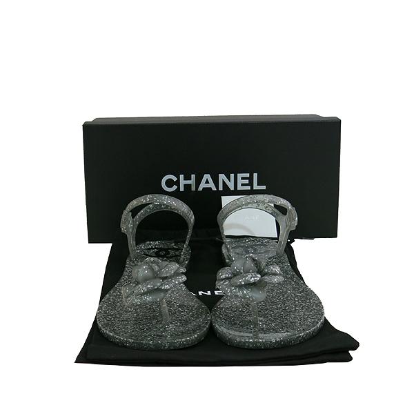 Chanel(샤넬) COCO 은장 까멜리아 여성용 젤리 슈즈 [대구동성로점]