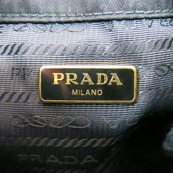 Prada(프라다) 1BH038 블랙 패브릭 트리밍 레더 버킷 토트백 + 크로스스트랩 [대구동성로점] 이미지5 - 고이비토 중고명품