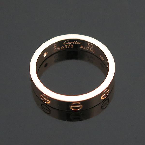 Cartier(까르띠에) B4050750 18K 핑크 골드 1포인트 다이아 미니 러브링 반지 - 10호 [부산센텀본점] 이미지5 - 고이비토 중고명품