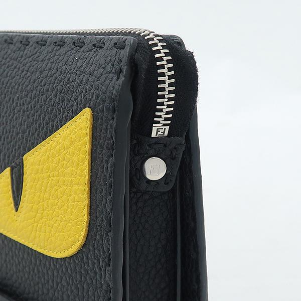 Fendi(펜디) 7VA350 셀러리아 은장 로고 장식 블랙 레더 백버드 클러치 [강남본점] 이미지4 - 고이비토 중고명품