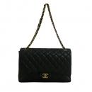 Chanel(샤넬) A47600 램스킨 블랙 클래식 맥시 사이즈 금장로고 체인 플랩 숄더백  [대구동성로점]