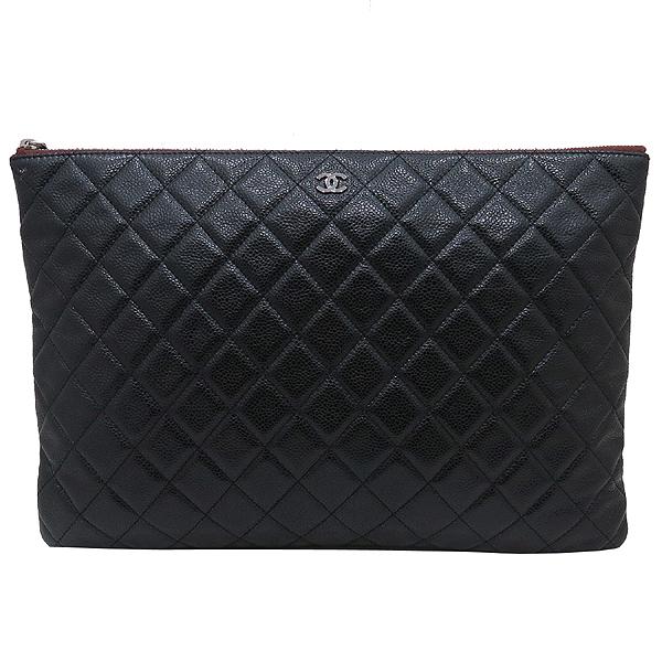 Chanel(샤넬) A69251 캐비어 블랙 은장 로고 L사이즈 클러치백 [인천점] 이미지2 - 고이비토 중고명품
