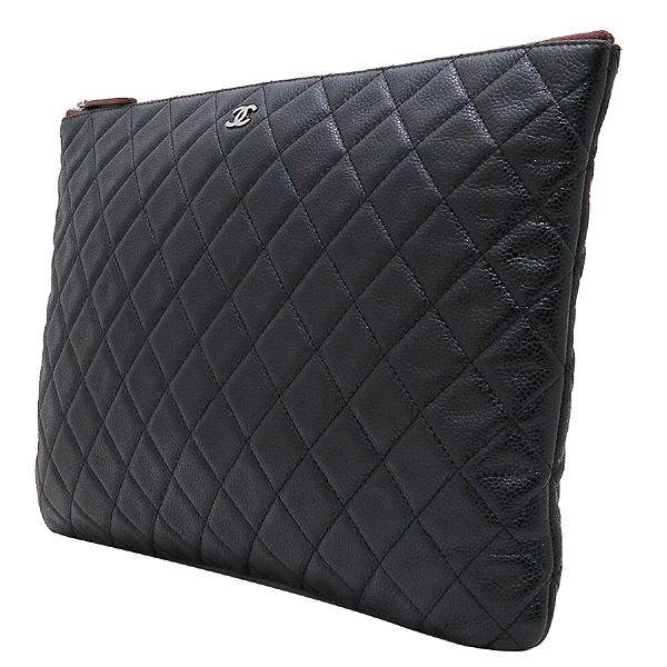 Chanel(샤넬) A69251 캐비어 블랙 은장 로고 L사이즈 클러치백 [인천점] 이미지3 - 고이비토 중고명품