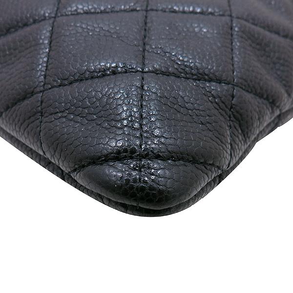 Chanel(샤넬) A69251 캐비어 블랙 은장 로고 L사이즈 클러치백 [인천점] 이미지5 - 고이비토 중고명품