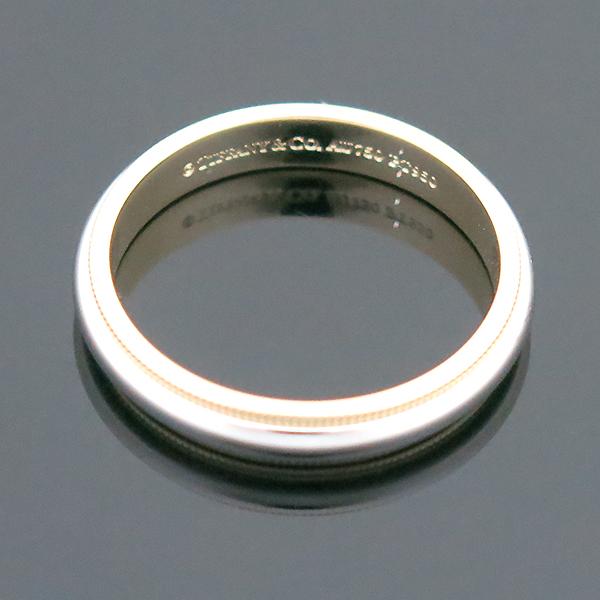 Tiffany(티파니) PT950(플래티늄) + 18K 옐로우골드 콤비 밀그레인 3MM 반지 -23호 [부산센텀본점] 이미지2 - 고이비토 중고명품