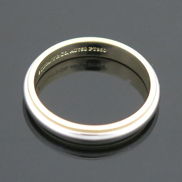 Tiffany(티파니) PT950(플래티늄) + 18K 옐로우골드 콤비 밀그레인 3MM 반지 -23호 [부산센텀본점] 이미지3 - 고이비토 중고명품