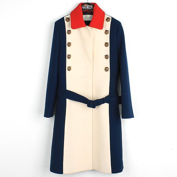 Gucci(구찌) 17SS 453955 타이거 골드 장식 패치 멀티 컬러 여성용 코트(벨트 SET) [강남본점]