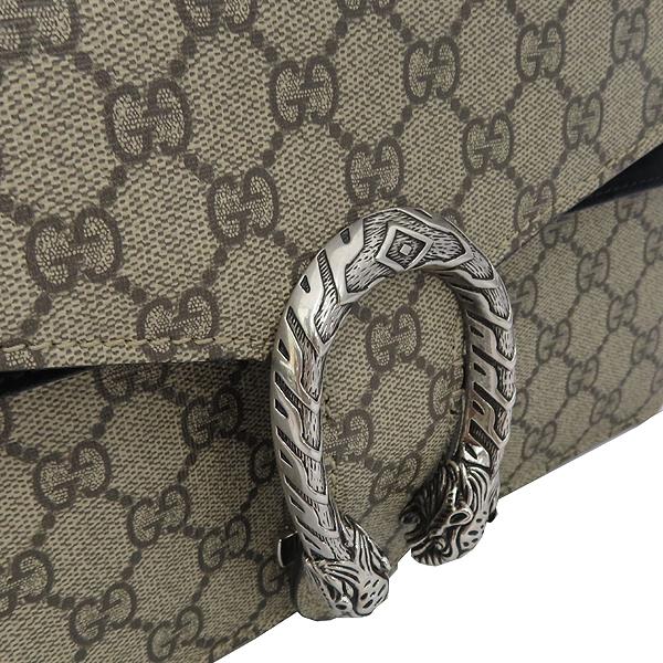 Gucci(구찌) 400249 Dionysus(디오니소스) 타이거 헤드 GG로고 수프림 캔버스 체인 블랙 컬러 숄더백 [잠실점] 이미지3 - 고이비토 중고명품