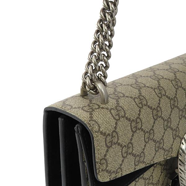 Gucci(구찌) 400249 Dionysus(디오니소스) 타이거 헤드 GG로고 수프림 캔버스 체인 블랙 컬러 숄더백 [잠실점] 이미지4 - 고이비토 중고명품