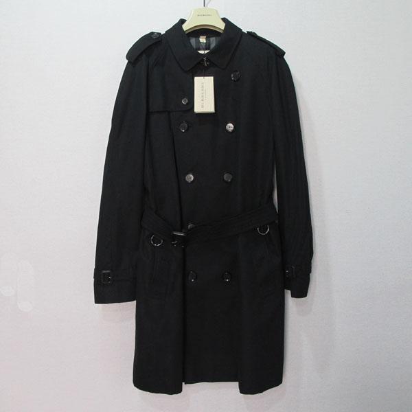 Burberry(버버리) 3761575 블랙 컬러 런던 클래식 프로섬 남성용 트렌치 코트 [대구반월당본점]