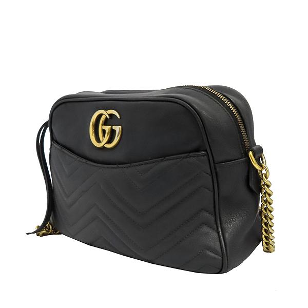 Gucci(구찌) 443499 GG 마몬트 블랙 마틀라쎄 쉐브론 인터로킹 골드메탈 스퀘어 집업 체인 크로스백 [잠실점] 이미지2 - 고이비토 중고명품
