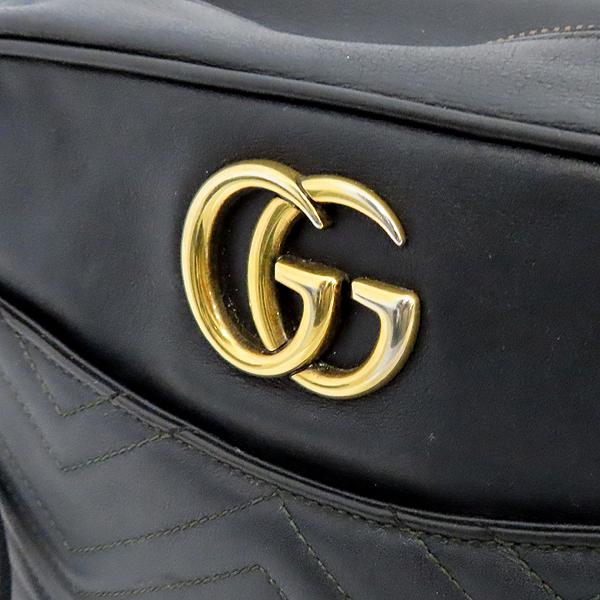 Gucci(구찌) 443499 GG 마몬트 블랙 마틀라쎄 쉐브론 인터로킹 골드메탈 스퀘어 집업 체인 크로스백 [잠실점] 이미지4 - 고이비토 중고명품