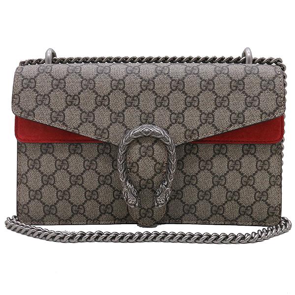 Gucci(구찌) 400249 GG 로고 캔버스 Dionysus(디오니소스) 타이거 헤드 레드 컬러 스웨이드 체인 숄더백 [인천점] 이미지2 - 고이비토 중고명품