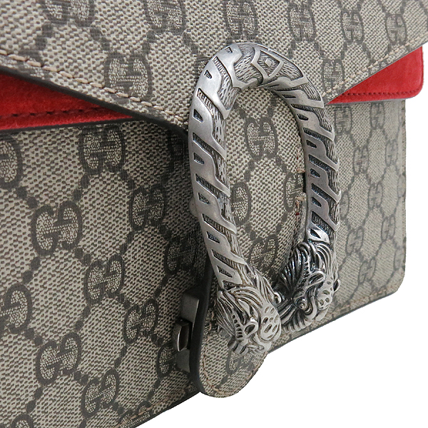 Gucci(구찌) 400249 GG 로고 캔버스 Dionysus(디오니소스) 타이거 헤드 레드 컬러 스웨이드 체인 숄더백 [인천점] 이미지4 - 고이비토 중고명품
