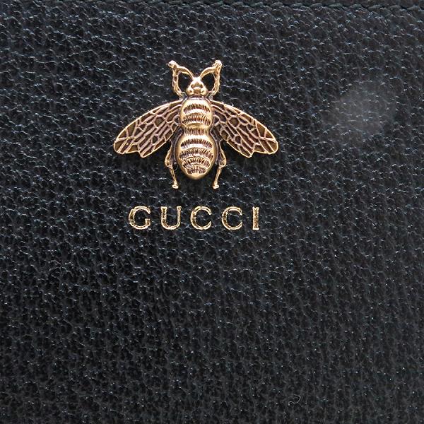 Gucci(구찌) 523684 블랙 레더 금장 꿀벌 파우치 클러치백 [인천점] 이미지4 - 고이비토 중고명품