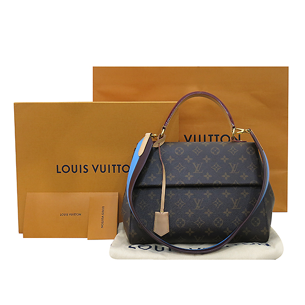 Louis Vuitton(루이비통) M42735 모노그램 캔버스 클루니 MM 블루 글래셜 토트백+숄더 스트랩 [부산센텀본점]