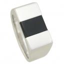 Montblanc(몽블랑) 925(실버) 블랙 레진 오닉스 반지 [강남본점]