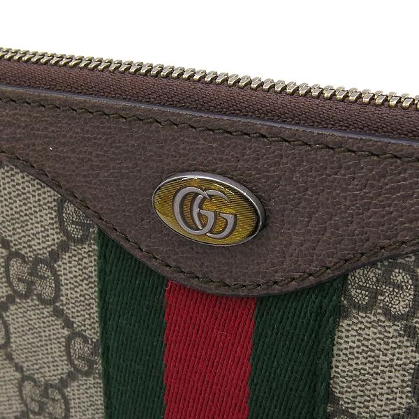 Gucci(구찌) 523359 GG 로고 장식 브라운 레더 PVC 트리밍 클러치백 [강남본점] 이미지4 - 고이비토 중고명품