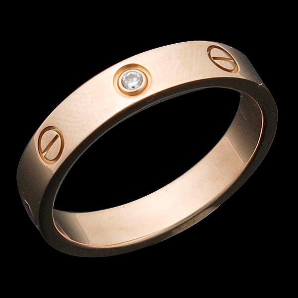 Cartier(까르띠에) B4056158 18K 옐로우 골드 1포인트 다이아 미니 러브링 반지 [인천점] 이미지2 - 고이비토 중고명품