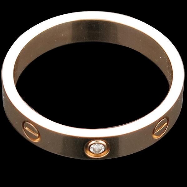 Cartier(까르띠에) B4056158 18K 옐로우 골드 1포인트 다이아 미니 러브링 반지 [인천점] 이미지3 - 고이비토 중고명품