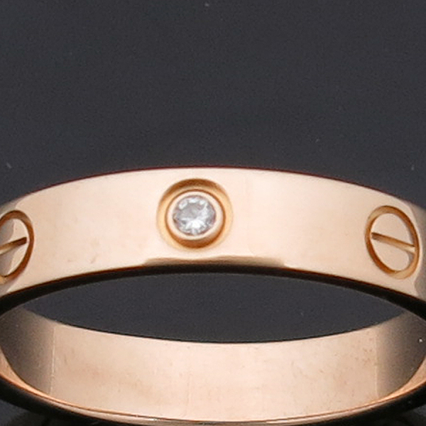 Cartier(까르띠에) B4056158 18K 옐로우 골드 1포인트 다이아 미니 러브링 반지 [인천점] 이미지4 - 고이비토 중고명품