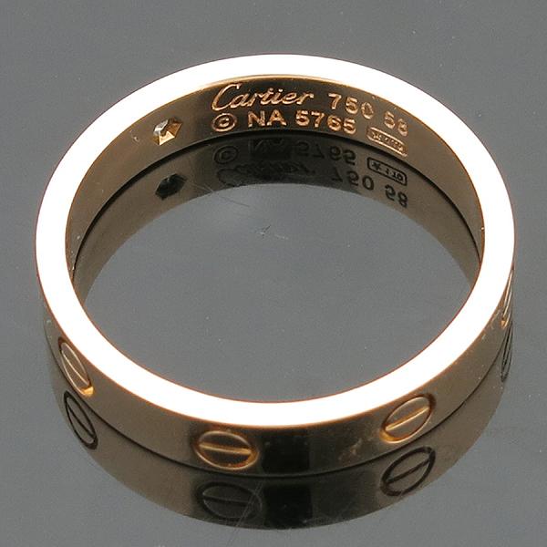 Cartier(까르띠에) B4056158 18K 옐로우 골드 1포인트 다이아 미니 러브링 반지 [인천점] 이미지5 - 고이비토 중고명품