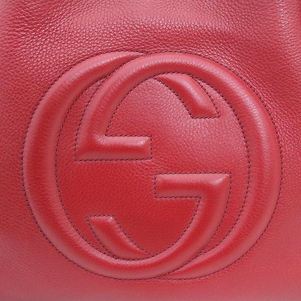 Gucci(구찌) 308982 레드 컬러 SOHO 소호 로고 금장 체인 숄더백 [부산센텀본점] 이미지4 - 고이비토 중고명품