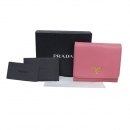 Prada(프라다) 1MH176 핑크 사피아노 금장 로고 중지갑 [대구반월당본점]